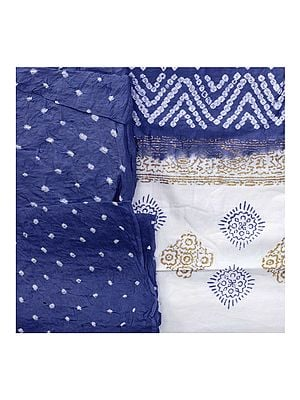 Bandhani Tie-Dyed Salwar Kameez Fabric from Gujarat