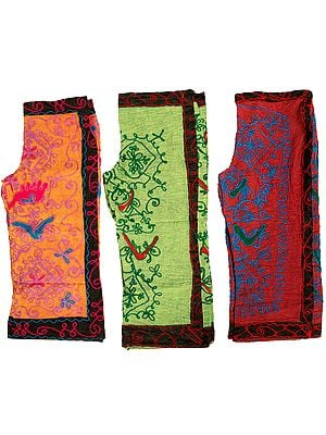 Lot of Three Embroidered Gujarati Trousers