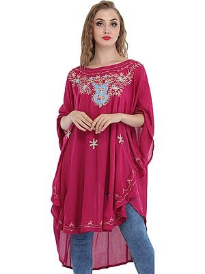 Short Kaftan with Thread-Embroidery