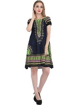Printed Barbie Midi-Dress
