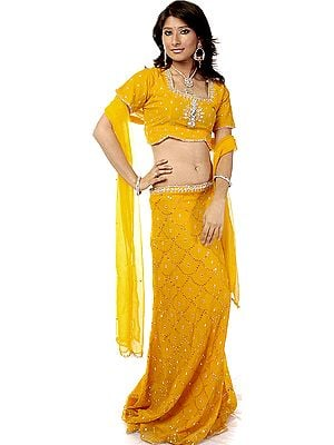 Beeswax Wedding Lehenga Choli with Beadwork and Sequins
