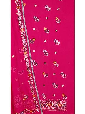 Orchid Salwar Suit with All-Over Persian Floral Embroidery