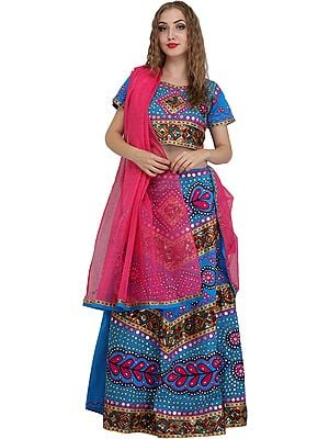 Lehenga Choli from Jodhpur with Hand-Embroidered Beads and Sequins