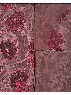 Salwar Kameez Fabric with Large Printed Flowers