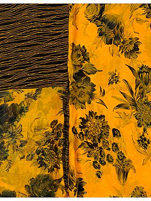 Salwar Kameez Fabric with Large Printed Flowers