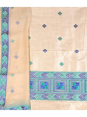 Salwar Kameez Fabric From Punjab with Phulkari Embroidery