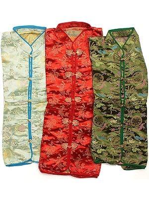 Lot of Three Sikkimese Brocaded Jackets