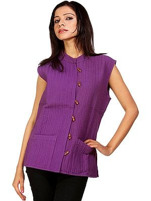 Plain Purple Reversible Waistcoat from Ranthambore