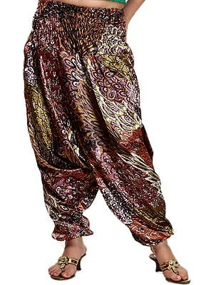 Multi-Color Printed Harem Trousers