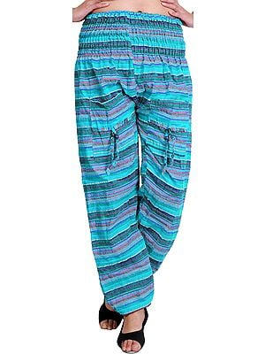 Woven Yoga Trousers with Front Pockets