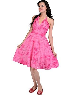 Barbie Dress With Sequins and Thread Work