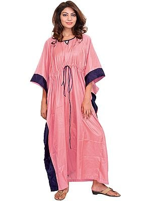 Solid Kaftan with Border and Dori at Waist