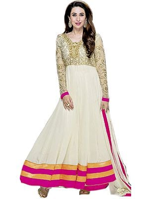 Vanilla Bridal Karishma Anarkali Suit with Zardozi Embroidery