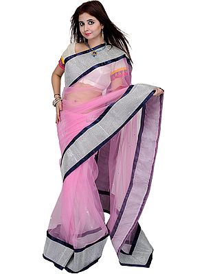 Designer Sari with Wide Patch Border