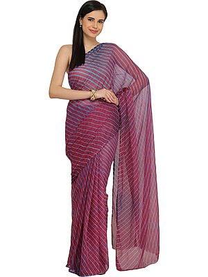 Leharia Tie-Dye Sari from Jodhpur