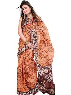 Batik Sari from Kolkata