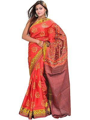 Sharon-Rose Patan Patola Sari from Gujarat with Ikat Weave