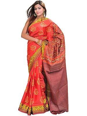 Sharon-Rose Patan Patola Sari from Gujarat with Ikat Weave