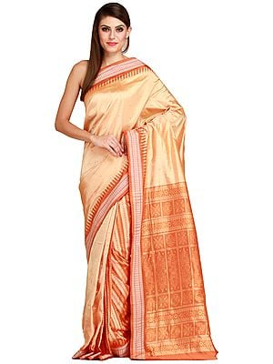 Desert-Dust Handloom Sari from Orissa with Bomkai Weave