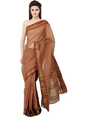 Venkatagiri Sari from Andhra Pradesh with Zari Border and Stripes