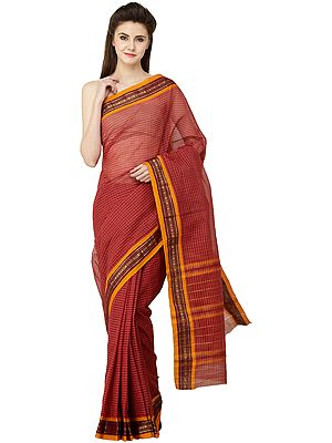 Venkatagiri Sari from Andhra Pradesh with Zari Border and Stripes