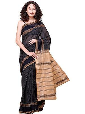 Total Eclipse  Narayanpet Sari with Woven Checks