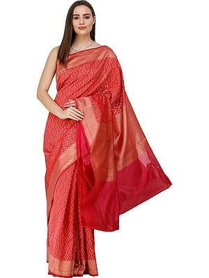Banarasi Sari with Zari Woven Pallu and Border