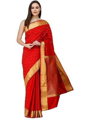 Uppada Sari from Bangalore with Self-Weave and Zari-Woven Pallu