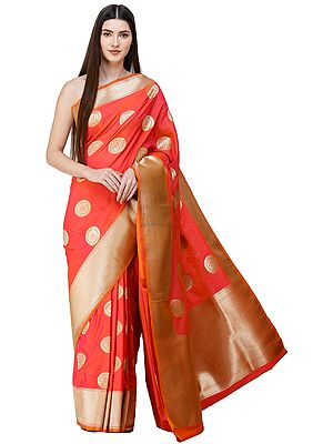 Uppada Sari from Bangalore with Zari-Woven Circular Bootis