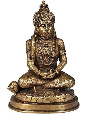 Lord Hanuman in Meditation (Yogachara Hanuman)
