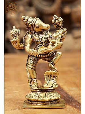 Lord Vishnu in Varaha  Incarnation with Bhudevi