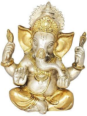 Lord Ganesha in Ashirwad Mudra