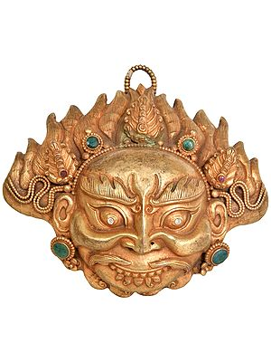 Superfine Mahakala Wall Hanging Mask - Tibetan Buddhist Deity