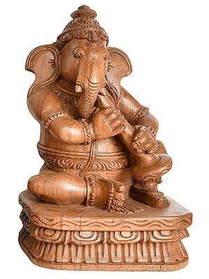 Musician Ganesha Playing Shehnai
