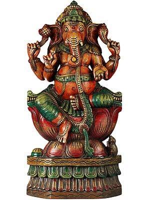 The Lotus-Seated Shri Ganesha