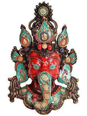 Lord Ganesha Wall Hanging Mask (Made in Nepal)