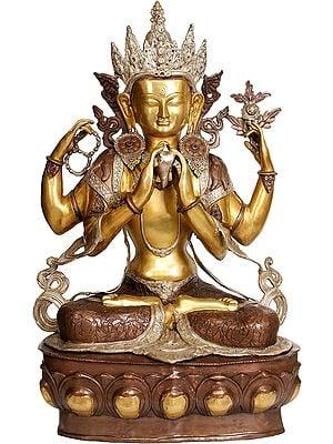 Large Size Chenresig The Four-Armed Avalokiteshvara (Tibetan Buddhist Deity)