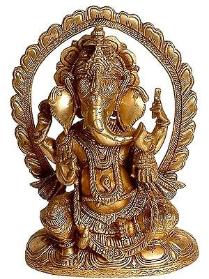 Ganesha Seated In Lalitasana