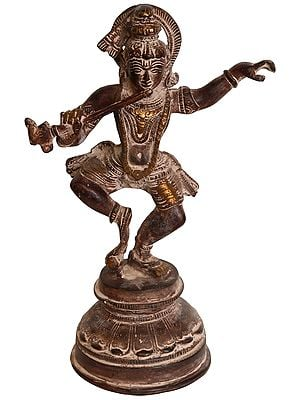 Dancing and Fluting Krishna