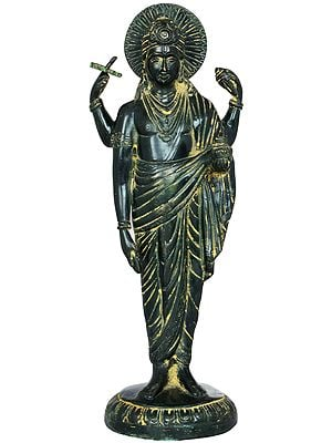 """12"""" Beautiful Dhanvantari Brass Statue 