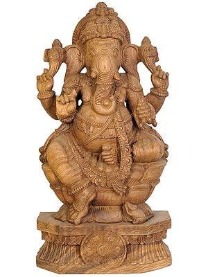 Ganesha Seated in Lalitasana