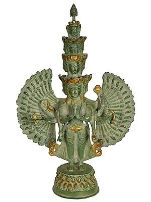 Eleven Headed Thousand Armed Tibetan Buddhist Deity Avalokiteshvara