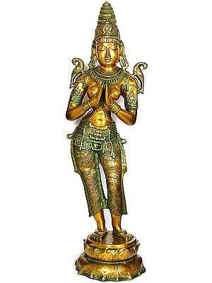 Large Size Dwara-Devi (The Celestial Doorkeeper Flanking Temple Doors)