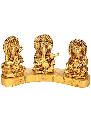 Triple Musician Ganesha