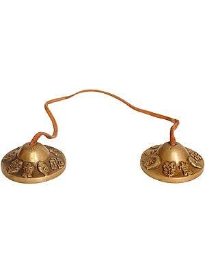 Ashtamangala Tibetan Buddhist Cymbals