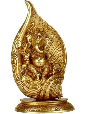Lord Ganesha in a Conch
