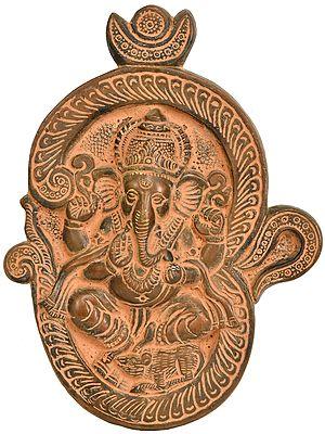 Lord Ganesha in OM Wall Hanging