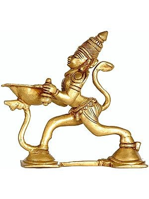 Hanuman Lamp for Shri Rama Puja