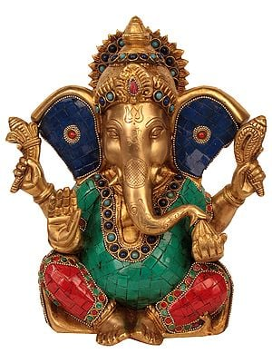 Blessing Lord Ganesha with Large Ears