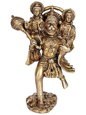 Hanuman Carries Rama and Lakshmana on His Shoulders to Meet Sugriva